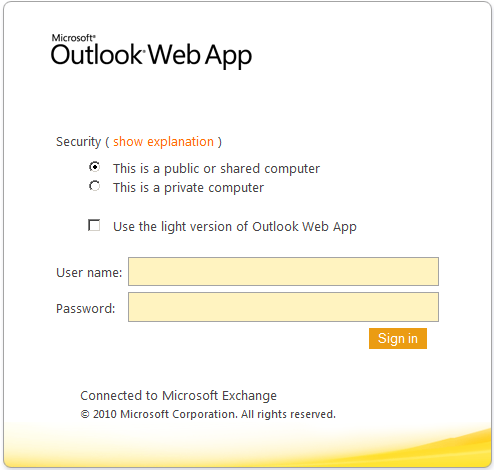 Outlook OWA